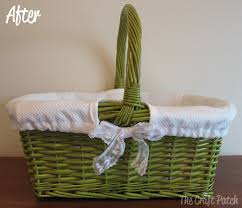 the craft patch a basket makeover