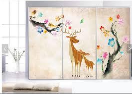 deer plum blossom kids bedroom wallpaper photo wall mural rolls deer plum blossom kids bedroom wallpaper photo wall mural rolls for living room carton wall paper 3d wall murals wallpaper in wallpapers from home
