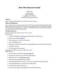 Job Resumes Samples by Awesome Learning To Write From A Concise Bank Teller Resume Sample