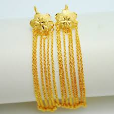 earrings hong kong aliexpress buy luxurious 18k gold plated genuine 990