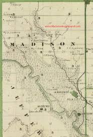 Madison Map Madison Township Polk County Iowa 1875 Map