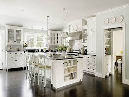 kitchen paint ideas with white cabinets what color cabinets with wood floors white bar stool back