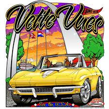corvette chevy expo c2 corvette t shirt vues magazine corvette chevy expo