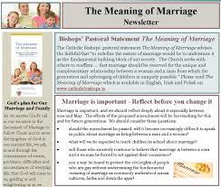 the meaning of marriage newsletter irish catholic bishops