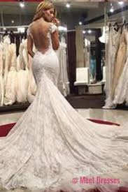 prom and wedding dresses gorgeous scoop illusion back cap sleeves wedding dresses court