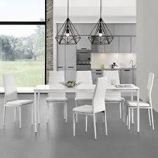 tavoli e sedie da cucina moderni set di tavoli e sedie moderni bianchi fino a 6 ebay