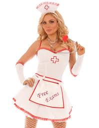 Nurse Halloween Costumes Womens Nurse Light Halloween Costume Xl Women White Red Dress