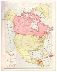 Map Of North America And Central America by North U0026 Central America Map Strand Album 1908 Philatelic Database