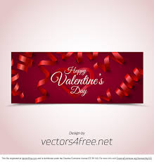valentines banner free bokeh s day banner vector