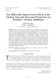Strategy Map The Differential Improvement Effects Of The Strategy Map And