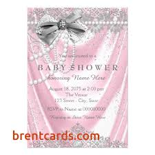 pink and silver baby shower pink and silver baby shower invitations free card design ideas