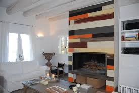 wood wall cladding interior aged painted retro style