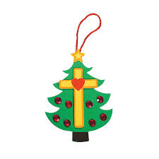 christmas tree cross foam ornament craft kit orientaltrading com