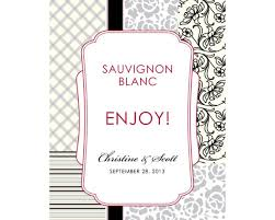labels for wedding favors eclectic patterns wine label 6 colors