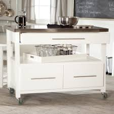 Kitchen Islands Atlanta White Wooden Move Able Kitchen Island With Shelf And Storage