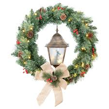 wreaths with lights battery operated lights