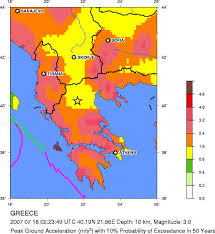 earthquake hazard map usgs earthquake hazards program seismic hazard map greece