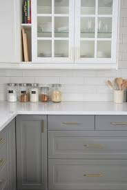 white and gray kitchen ideas installing a subway tile backsplash in our kitchen white subway