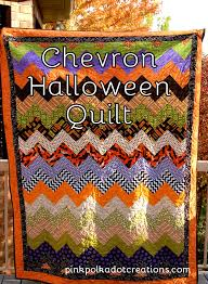 easy chevron halloween quilt pink polka dot creations