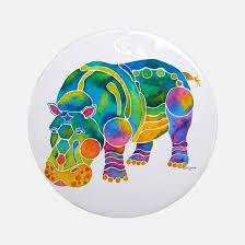hippo ornament cafepress