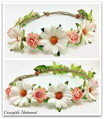 headband floral headband flower crown headband floral hair
