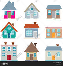 Cute House by 9 Cute Houses Vector Visit My Portfolio For More Houses Stock