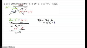geometry unit 5 practice test 9 and 10 youtube