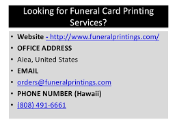 Funeral Program Printing Services Funeral Programs