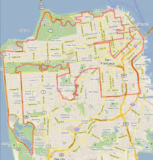 Zip Code Map San Francisco by Scenic 49 Cycling