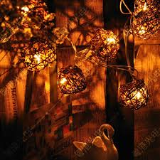 outdoor vintage patio globe string lights rattan ball light for
