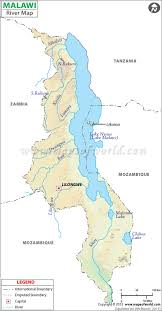 africa map malawi river map