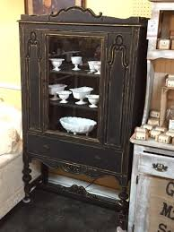 repurposed shabby chic china cabinet antique
