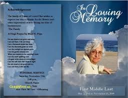 best free funeral program template 2010 free funeral