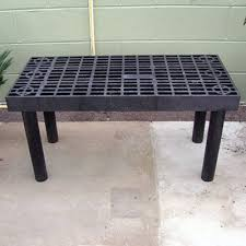 Metal Greenhouse Benches Single Level Display Bench Economy Plastic Benches Greenhouse