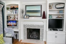 Built In Shelves Living Room Home Design Contemporary Living Room With Built In Bookshelf High