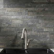 Aspect BacksplashStone Tile In Iron Slate - Backsplash stone tile