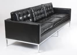 canapé cuir noir 3 places galerie alexandre guillemain artefact design canapé 3 places