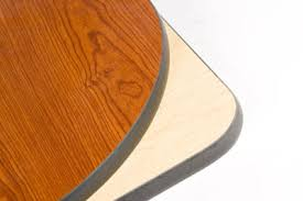 laminated wood table top quick ship laminated round restaurant table top 3 reversible color