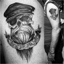 bearded skull on shoulder best ideas gallery
