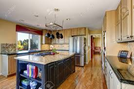 colored kitchen cabinets with stainless steel appliances view of modern kitchen room interior with kitchen island stainless