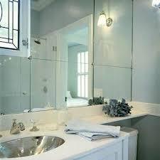 Mirror Wall In Bathroom Height Mirrored Wall Design Ideas