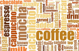 artistic coffee coffee artistic menu as a abstract background stock photo picture