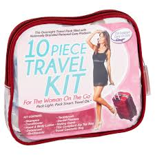 travel personal care kit for woman on the go 10 piece tsa