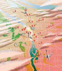 Ne Portland Bike Map by Jason Raish Illustration