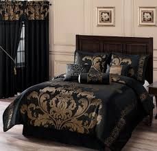 Bed Sets Black Chezmoi Collection 7 Jacquard Floral Comforter