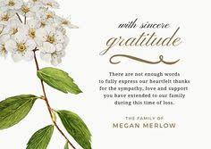 funeral thank you notes sle funeral thank you cards pinteres