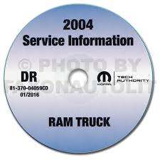 2004 dodge ram 1500 3500 repair shop manual original 2 volume set