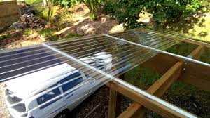 how to install polycarbonate roofing youtube