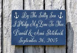 wedding plaques personalized wedding signs personalized wedding decor nautical anchor