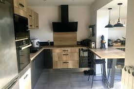 cuisine socooc cuisine industrielle bois racalisations et anthracite vernis de